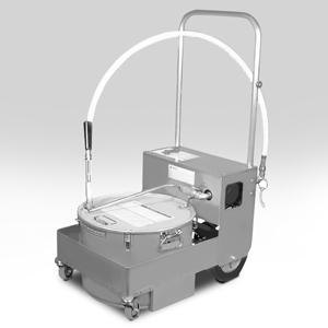 MirOil BS707 75 lb. Fryer Oil Electric Filter Machine and Discard Trolley - Countertop 120V Main Image 1