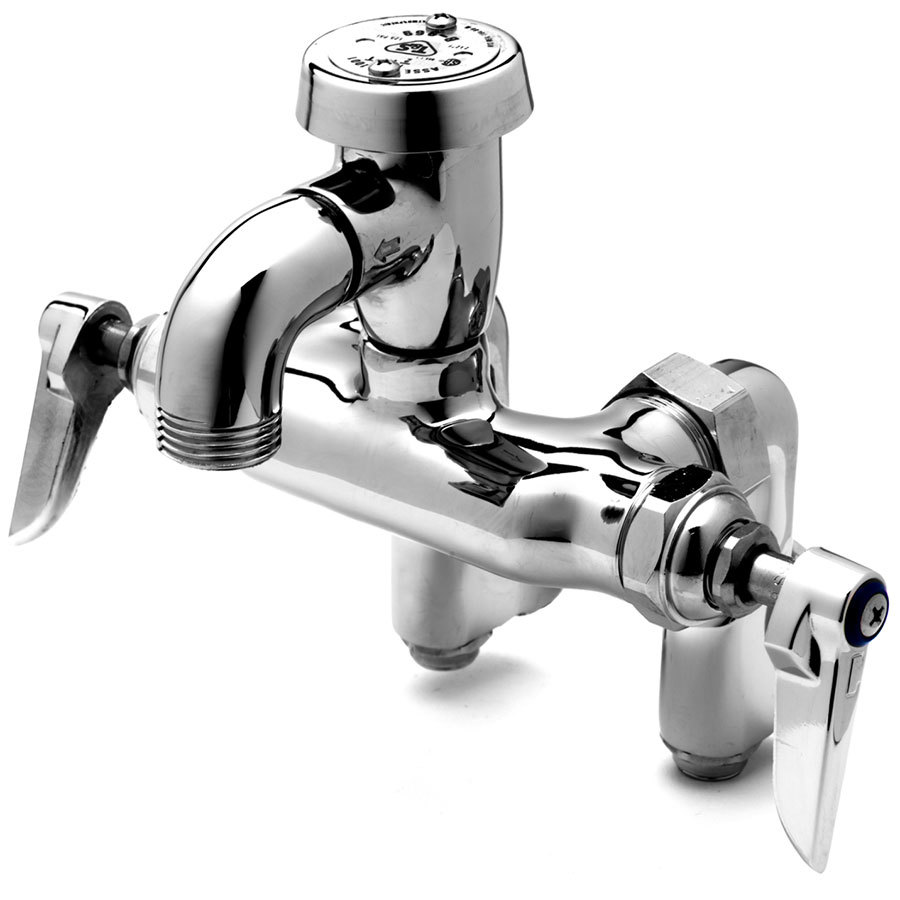 T Amp S B 0669 Pol Service Sink Faucet With Integral Stops