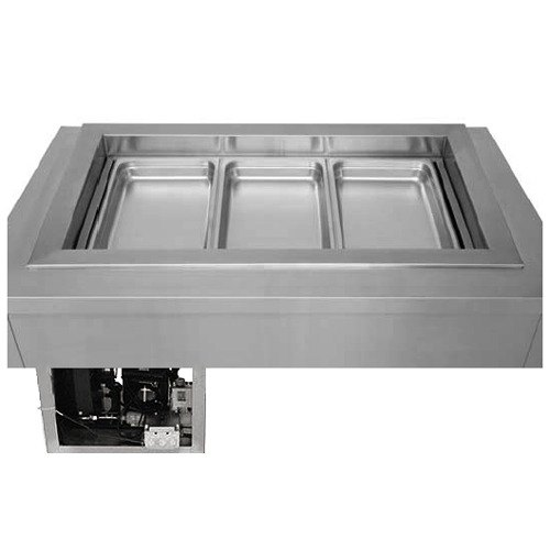 """Wells RCP-7100ST 19"""" One Pan Drop In Refrigerated Cold Food Well with Slope Top and Recessed Pan Compartment"""