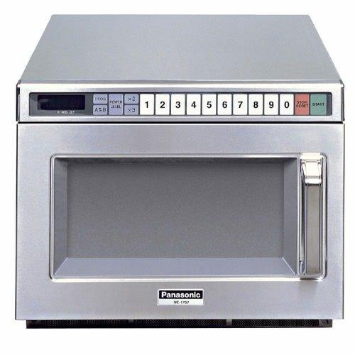 Panasonic NE-21521 Stainless Steel Commercial Microwave Oven - 208/240V, 2100W Main Image 1