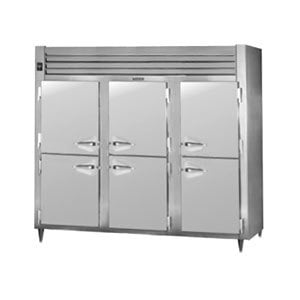 Traulsen AHF332WP-HHS 83.2 Cu. Ft. Solid Half Door Three Section Reach In Pass-Through Heated Holding Cabinet - Specification Line