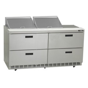 """Delfield D4464N-12 64"""" 4 Drawer Refrigerated Sandwich Prep Table"""