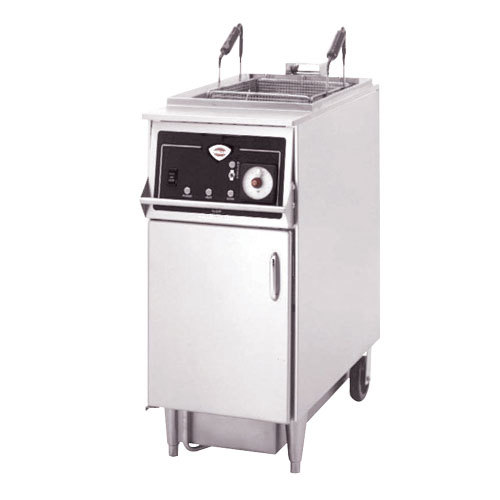 Wells WFAE55F 55 lb. Programmable Auto Lift Electric Floor Fryer - 240V, 3 Phase, 9000W