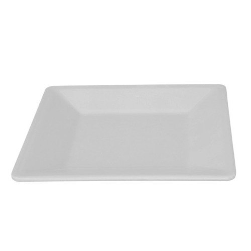 Thunder Group PS3214W Passion White Square Plate - 6/Pack
