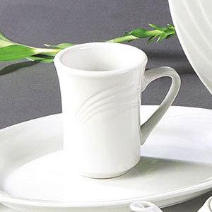 CAC GAD-17 Garden State 8 oz. Bone White Porcelain Coffee Mug - 36/Case Main Image 1
