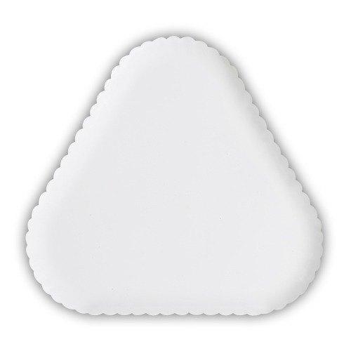"""GET HI-2011-W Mediterranean 12"""" White Triangular Polycarbonate Plate - 6/Case"""