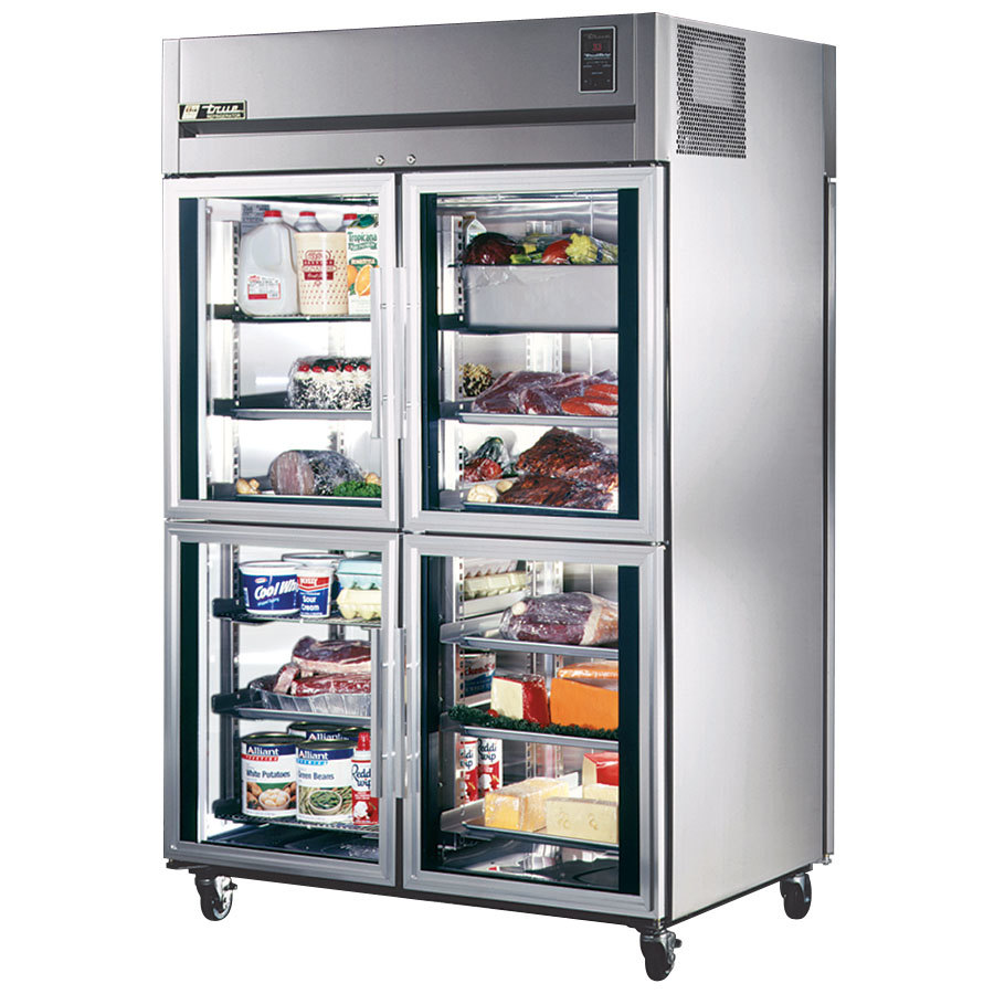 True Tg2rpt 4hg 2s Pass Thru Refrigerator 2 Section Glass