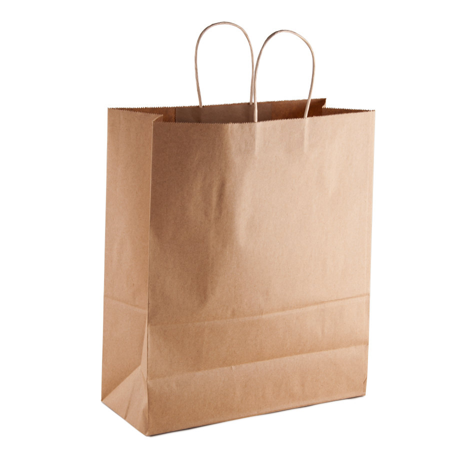 brown shopping bag with handles 13 x 6 x 16 250. Black Bedroom Furniture Sets. Home Design Ideas