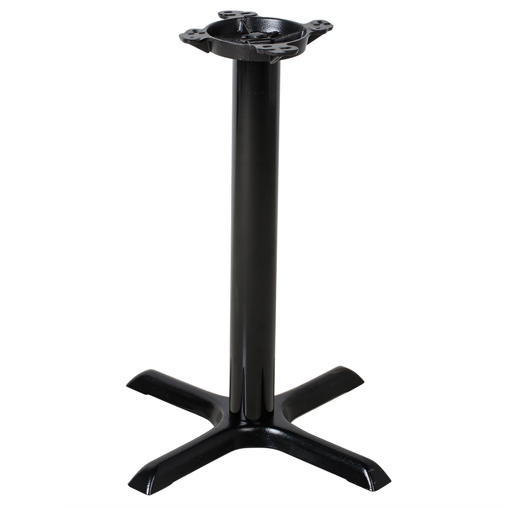 Lancaster table seating 22 black metal table base Metal table base