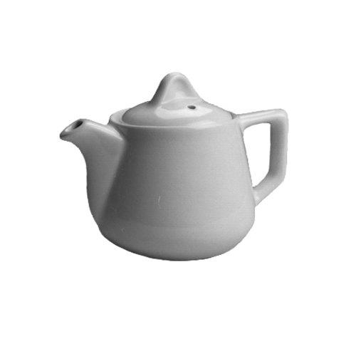 Hall China 2510AWHA Ivory (American White) 10 oz. Buffet Teapot - 12/Case