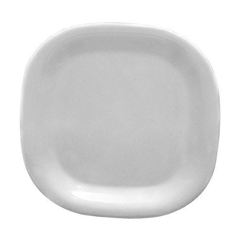 """Thunder Group PS3008W 8 1/4"""" Passion White Square Plate - 12/Pack"""