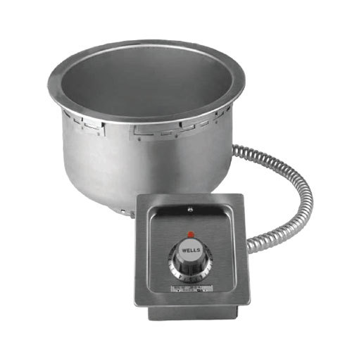 Wells 5P-SS8TU 7 Qt. Round Drop-In Soup Well - Top Mount, Thermostatic Control, 208/240V Main Image 1