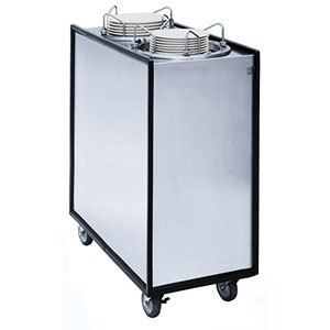 """APW Wyott Lowerator HML3-9A/12A Mobile Enclosed Adjustable Heated Three Tube Dish Dispenser for 3 1/2"""" to 12"""" Dishes - 208/240V"""