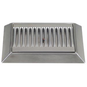"""Micro Matic DP-420D 9"""" Stainless Steel Bevel Edge Drip Tray with 1/2"""" ID Drain Main Image 1"""