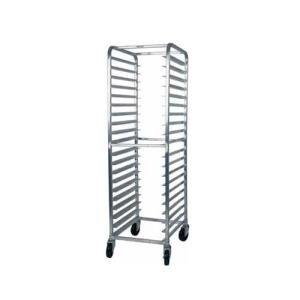 "Winholt AL-1812B End Load Aluminum Platter Cart - Twelve 18"" Trays Main Image 1"