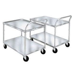 "Winholt WPT-2340-AL 25"" x 42"" Aluminum Utility Cart - 600 lb. Capacity Main Image 1"