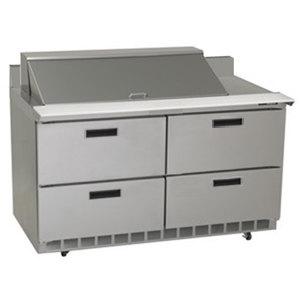 "Delfield STD4464N-18M 64"" 4 Drawer Mega Top Refrigerated Sandwich Prep Table with 4"" Backsplash"