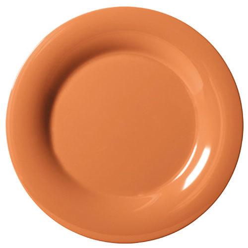 "GET WP-9-PK 9"" Diamond Harvest Pumpkin Wide Rim Plate - 24/Case"