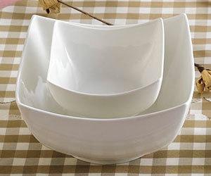 CAC SHA-B6 Sushia 28 oz. Super White Square Porcelain Bowl - 36/Case