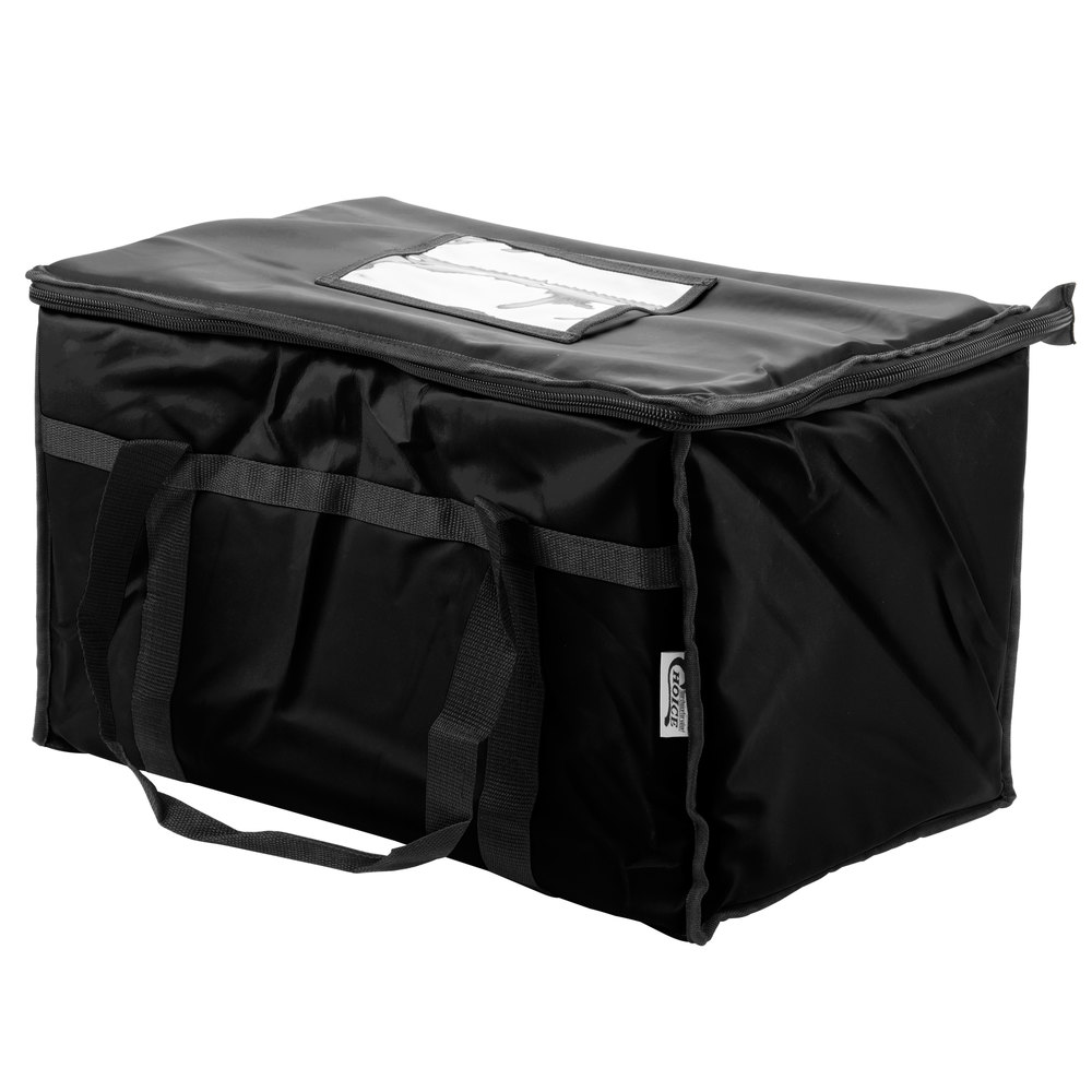 Colors Choice Insulated Food Delivery Bag Pan Carrier Black Nylon