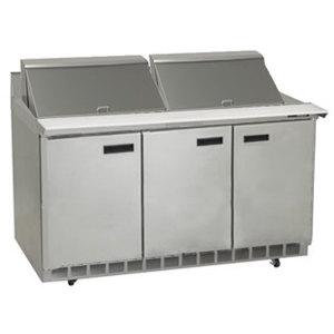 "Delfield ST4472N-24M 72"" 3 Door Mega Top Refrigerated Sandwich Prep Table with 4"" Backsplash"