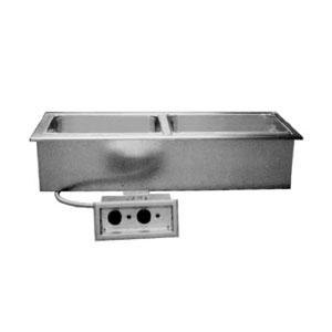 Delfield N8768ND Narrow Three Pan Drop In Hot Food Well with Drain Main Image 1