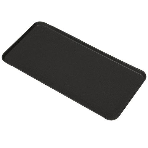 """Cambro 1230MT110 12"""" x 30"""" Black Fiberglass Market Tray - 12/Case"""