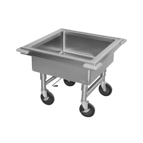 "Advance Tabco 9-FSS-20 Mobile Silverware Soaking, 22"" x 22"" Sink"