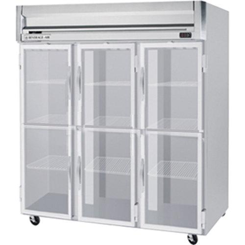 "Beverage-Air HRP3-1HG-LED Horizon Series 78"" Glass Half Door Reach-In Refrigerator with LED Lighting"