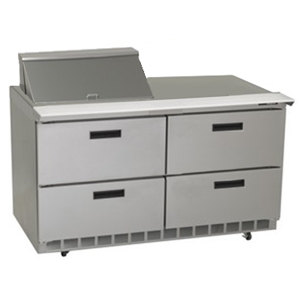 """Delfield UCD4460N-8 60"""" 4 Drawer Reduced Height Refrigerated Sandwich Prep Table"""
