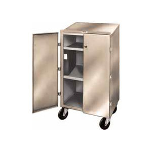 Winholt OTE-78 Beige Steel Enclosed Receiving / Shop Desk with Lockable Doors Main Image 1