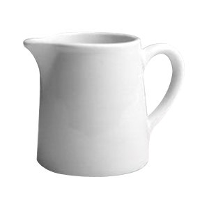 Hall China 3770AWHA 3 oz. Ivory (American White) China Tankard Creamer with Handle - 24/Case