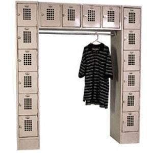 "Winholt WL-16/CB Garment / 16 Person Locker - 72"" x 18"" Main Image 1"