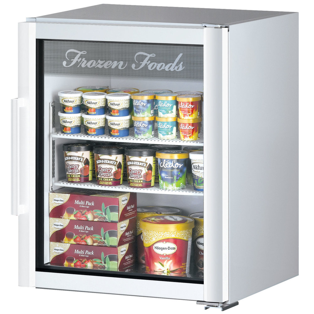 Turbo Air Tgf 5sdw N Super Deluxe White Countertop Display Freezer With Swing Door