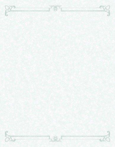 "8 1/2"" x 14"" Menu Paper - Green Swirl Border - 100/Pack"