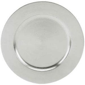 """Tabletop Classics TRS-6651 13"""" Silver Round Acrylic Charger Plate"""