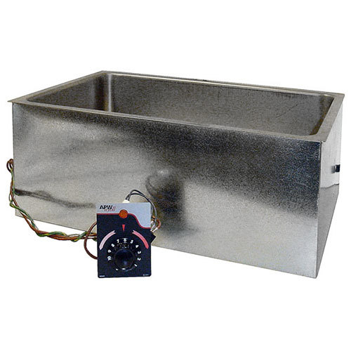 """APW Wyott BM-80CD UL Listed Bottom Mount 12"""" x 20"""" Insulated High Performance Hot Food Well with Drain and Square Corners - 120V"""