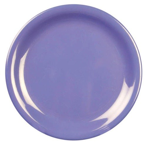 "Thunder Group CR109BU 9"" Purple Narrow Rim Melamine Plate - 12/Pack"