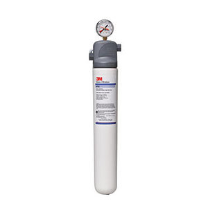 3M Water Filtration Products BEV135 Single Cartridge Cold Beverage Water Filtration System - 1 Micron Rating and 1.67 GPM