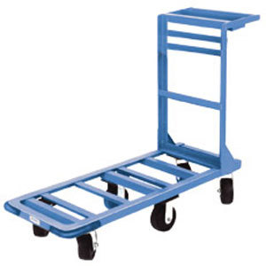 "Winholt 550 18"" x 51"" Heavy Duty Utility Cart with Rubber Wheels - 700 lb. Capacity"