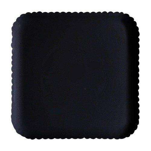 "GET HI-2009-BK Mediterranean 12"" Black Square Polycarbonate Plate - 12/Case"