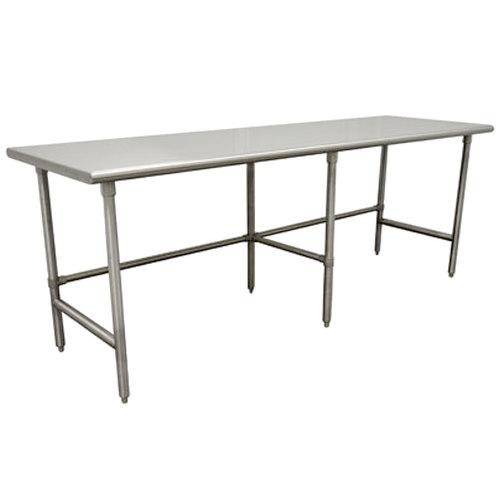 "Advance Tabco TSAG-2411 24"" x 132"" 16 Gauge Open Base Stainless Steel Work Table"