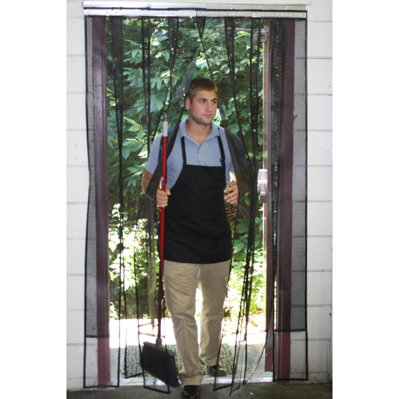 Curtron SD-MESH-4884 48  x 84  Mesh Strip Door / Insect Barrier and Bug Curtain  sc 1 st  WebstaurantStore & Curtron SD-MESH-4884 48
