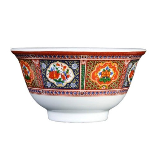 Thunder Group 3008TP Peacock 6 oz. Round Melamine Rice Bowl - 24/Pack