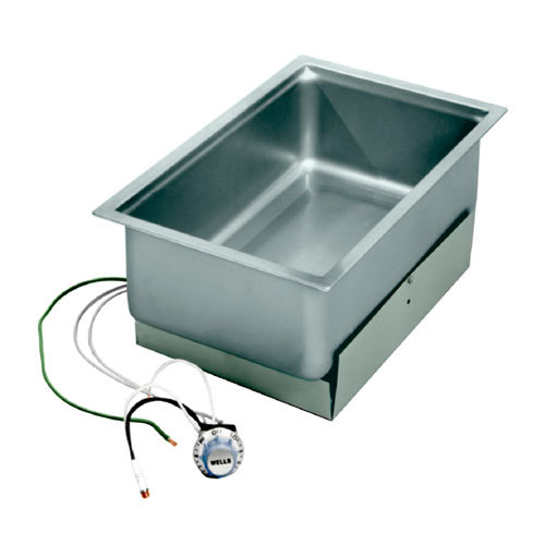 Wells 5P-SS206ER Drop-In Rectangular Hot Food Well with High Limit Switch- Bottom Mount, Infinite Control, 208/240V Main Image 1