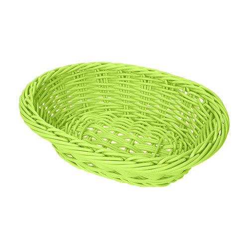 "GET WB-1503-G 9"" x 6 3/4"" x 2 1/2"" Designer Polyweave Green Oval Basket - 12/Case"