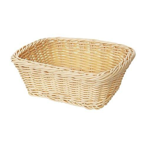 """GET WB-1506-N 9 1/2"""" x 7 3/4"""" x 3 1/2"""" Designer Polyweave Natural Rectangular Basket - 12/Case"""