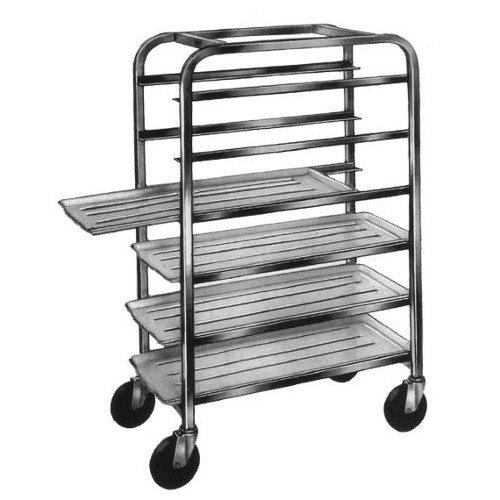 "Winholt AL-186 End Load Aluminum Platter Cart - Six 18"" Trays Main Image 1"