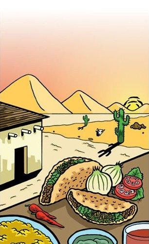 "8 1/2"" x 14"" Menu Paper - Southwest Themed Taco Design Cover - 100/Pack"