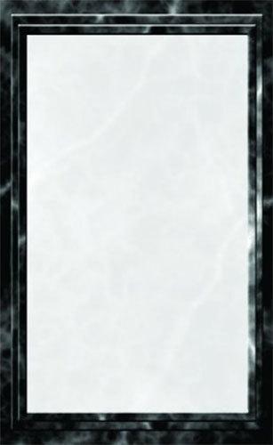 "8 1/2"" x 11"" Black Menu Paper - Marble Border - 100/Pack"